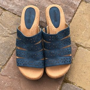White Mountain Comfort Sandals  Blue